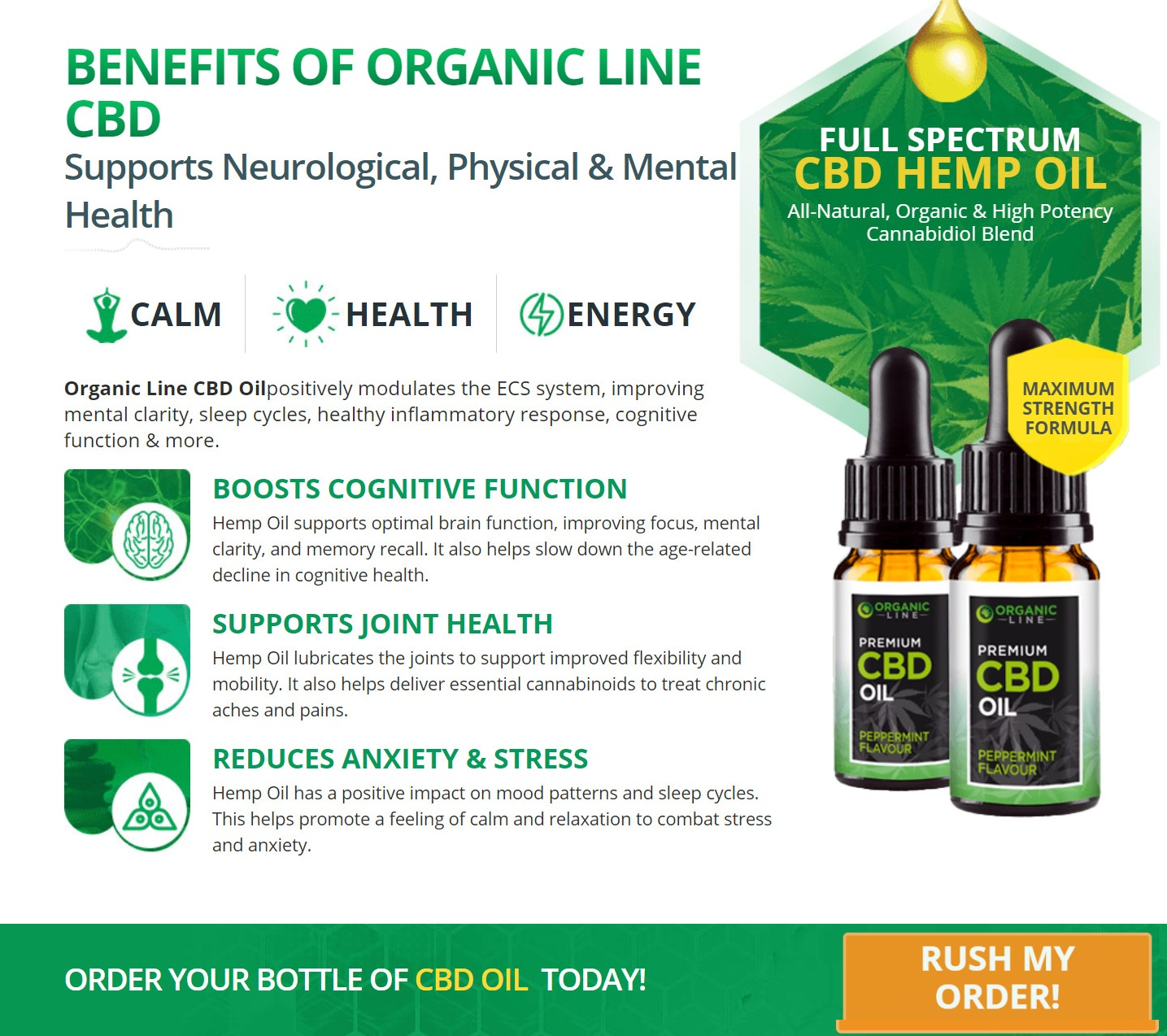 Organic Line CBD Oil benefits